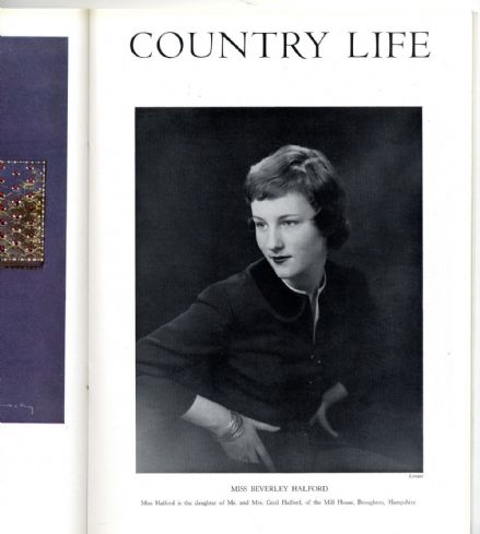 1957 COUNTRY LIFE Magazine 13 Jun BEVERLEY HALFORD Breamore House Hants (2513)